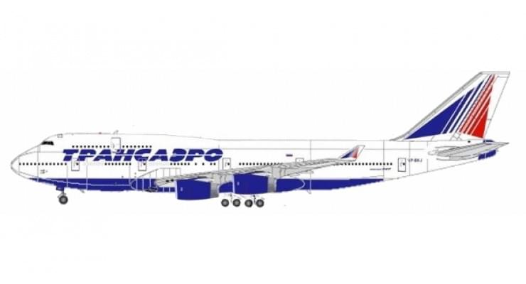Модель самолета Boeing 747-400 Трансаэро 1:400