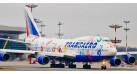 """Модель самолета Boeing 747-400 Трансаэро """"Рейс надежды"""" 1:400"""