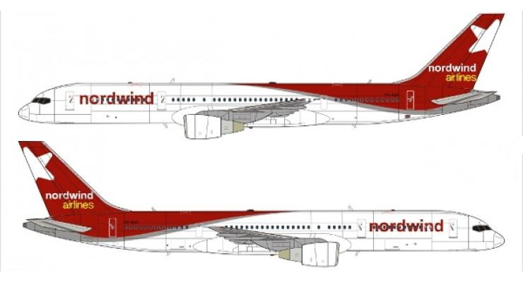 Модель самолета Boeing 757-200 Nordwind Airlines 1:200