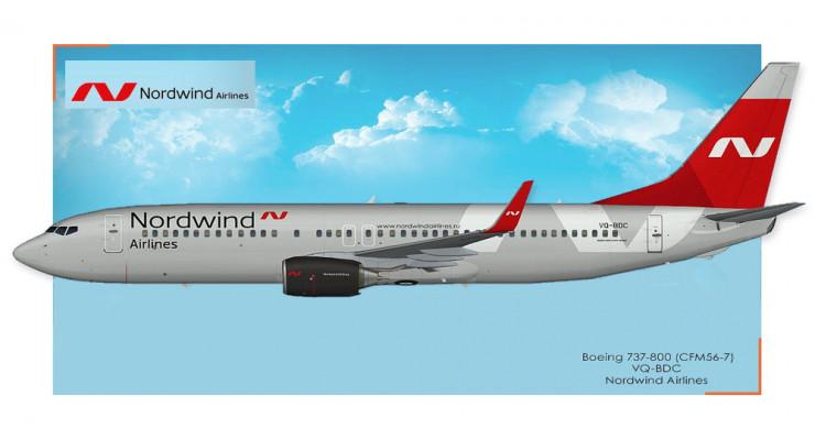 Модель самолета Boeing 737-800 Nordwind Airlines 1:400