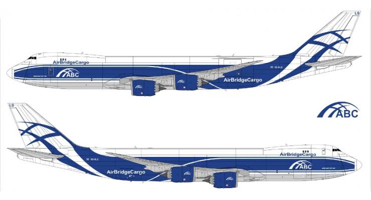 Модель самолета Boeing 747-8F Air Bridge Cargo 1:400