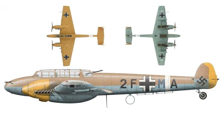 Модель самолета Messerschmitt Bf 110E-7 1:72