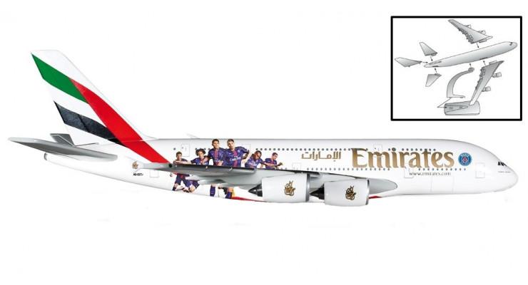 "Модель самолета Airbus A380 Emirates ""Paris St. Germain"" 1:250"