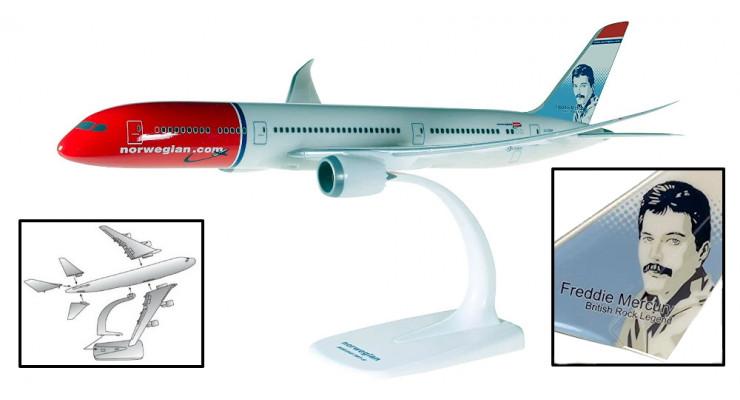 """Модель самолета Boeing 787-9 Norwegian """"F. Mercury """" 1:200"""