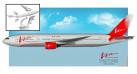 Модель самолета Boeing 777-200 Vim-Avia 1:200