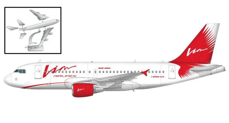Модель самолета Airbus A319 Vim Avia Airlines 1:200