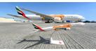 """Модель самолета 777-300ER """"Orange Expo 2020"""" Emirates 1:200"""
