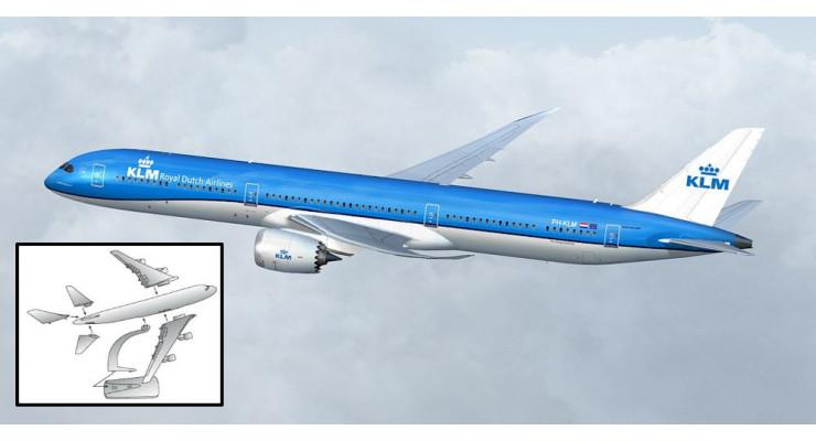 Модель самолета Boeing 787-10 Dreamliner KLM 1:200