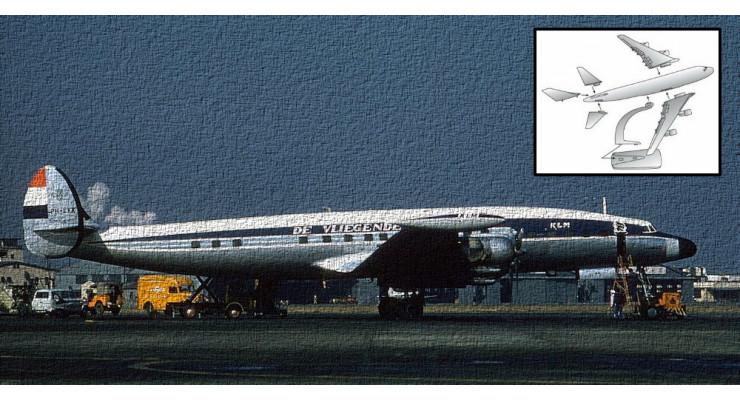 Модель самолета Lockheed L-1049 Super Constellation KLM 1:125