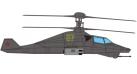 """Модель вертолета Камов Ка-58 """"Чёрный призрак"""" ВВС России 1:72 27404"""