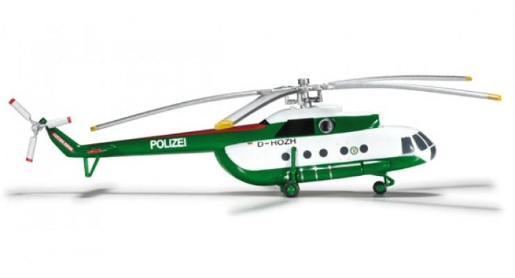 Модель вертолета Миль Ми-8Т/1 Police Department Brandenburg 1:200 554893
