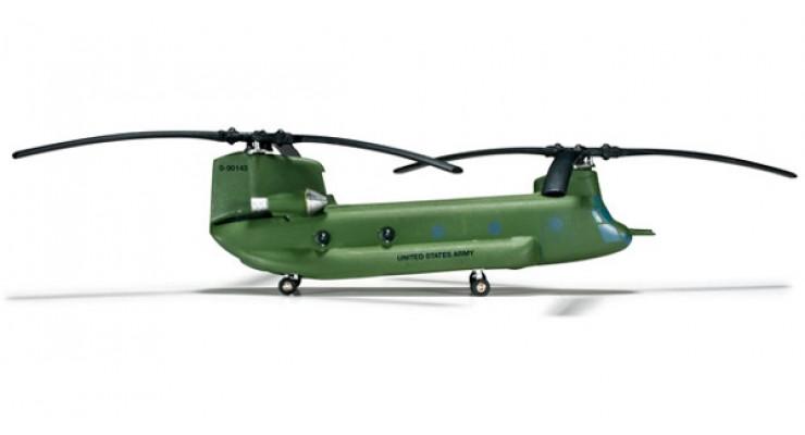 """Модель вертолета Boeing Vertol Chinook CH-47D US Army """"Big Windy"""" 1:200 555807"""